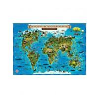 """Интерактивная карта мира для детей """"Животный и растительный мир Земли"""", Globen"""