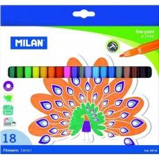 Фломастеры  (18 штук), Milan