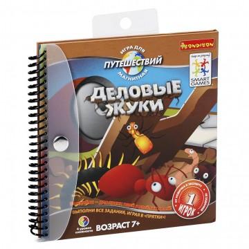 """Компактные развивающие игры в дорогу """"Деловые жуки"""", Bondibon"""