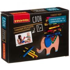 """Развивающая деревянная игра-балансир """"Слон"""", Bondibon"""