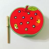 "Магнитная игра ""Поймай червячка"" яблочко"