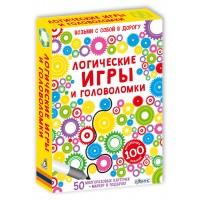 Логические игры и головоломки, многоразовые карточки с маркером, РОБИНС
