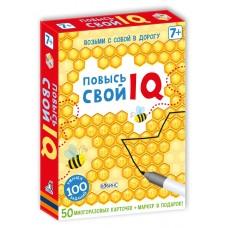 Повысь свой IQ, многоразовые карточки с маркером, РОБИНС