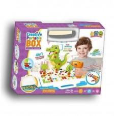 Развивающий конструктор-мозаика с шуруповертом Creative Portable Box, 198 деталей