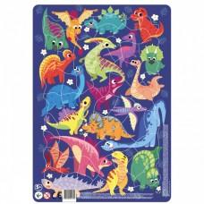 """Пазл в рамке """"Динозавры"""" (53 элемента), Dodo"""