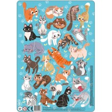 "Пазл в рамке ""Коты"" (53 элемента), Dodo"
