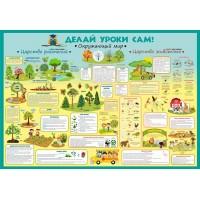 "Плакат ""Делай уроки сам"" Окружающий мир: 1-4 класс"