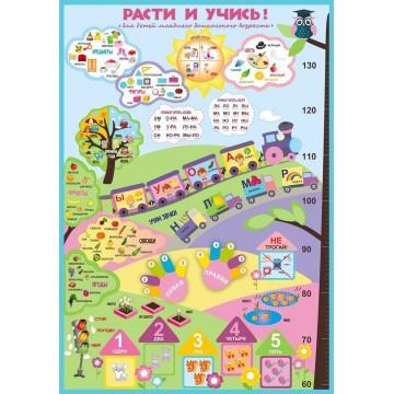 Плакат «Расти и учись» для младшего дошкольного возраста