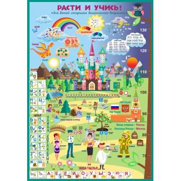 Плакат «Расти и учись» для старшего дошкольного возраста