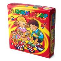 """Развивающая игра кубики """"Сложи узор"""", Корвет"""