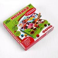 """Мозаика """"Ферма"""" с карточками, шариками и пинцетом, Лесная мастерская"""