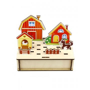 Развивающая игра «Панорама. Ферма», Woodland Toys