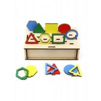 Развивающая игра «Панорама. Геометрия», Woodland Toys