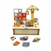 Развивающая игра «Панорама. Стройка», Woodland Toys