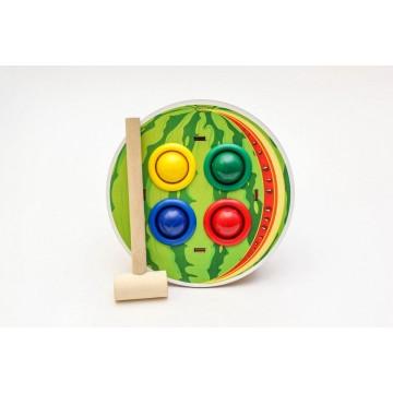 """Стучалка цветная """"Арбуз"""", WoodLand Toys"""