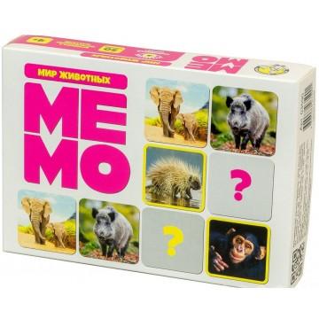"""Настольная игра """"Мемо. Мир животных"""", Десятое королевство"""
