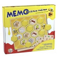 """Настольная игра """"Мемо. Веселые пчелки"""", Десятое королевство"""