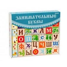 """Деревянные кубики """"Занимательные буквы"""", Томик"""